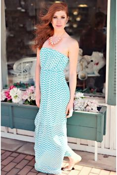 Ocean Waves Maxi Dress