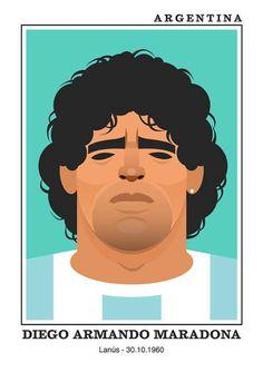 Diego Maradona - Stanley Chow Soccer Prints