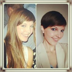 Before - After  Short pixie haircut