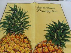 Australian pineapples teatowel - The Tea Towel Lady Tea Towels, Pineapple, Craft Ideas, Fruit, Lady, Crafts, Souvenir, Dish Towels, Manualidades