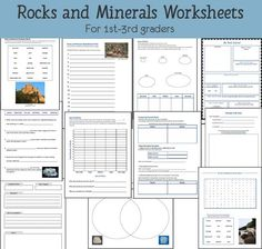 Rocks And Minerals Worksheet For Kids: geology crafts for kids dinosaur day c theme pinterest ,