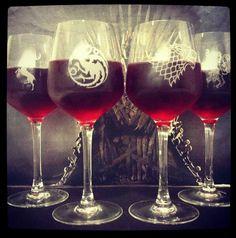 Game of thrones wine glasses