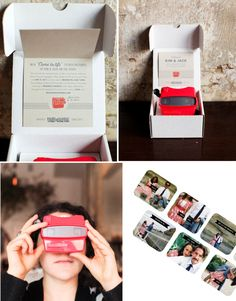 Vintage viewmaster wedding save the dates / announcements (cool but expensive) | Photography by http://jenhuangphoto.com/ | #engagement #savethedate #weddinginvites