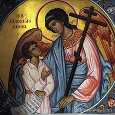 Prayers of the day from Catholic Online. Use these prayers to start and end each day. Religious Images, Religious Icons, Religious Art, Prayer For The Day, Angel Prayers, Your Guardian Angel, Catholic Saints, Catholic Art, Orthodox Icons