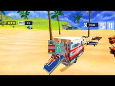 Summer Coast Guard: Beach Bay Ambulance Rescue - Beach Helicopter Rescue - Android Gameplay - YouTube