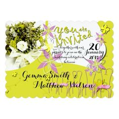 Sunny Days Wedding Invitation -- personalize and order affordable wedding invitations