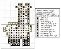 cross stitch alpaca llama - Google Search