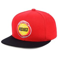 finest selection 1d033 e420e Houston Rockets Mitchell   Ness 2-Tone Classic Adjustable Snapback Hat -  Red,