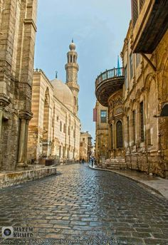 Oid streets of Cairo.Egypt