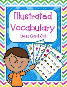 These Vocabulary Desk Cards can be used in lots of different ways!  For example, they can be used as a personal dictionary. I like to pair them with this  My Word Bookfrom my TPT store, making them the very first section of each spiral bound book. As well, you can use these cards to teach basic vocabulary to Newcomers.