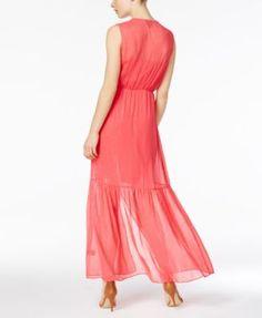 Eci Chiffon Maxi Dress - Blue Multi XL