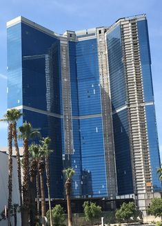 The massive big blue casino-resort on the north end of the Vegas Strip just received a permanent name - The Drew Vegas. This is now the third name for the massive blue glass building. The structure was built with the intention of being the Las Vegas version of Fontainebleau.