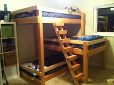 Classic Triple Bunk Beds For Kids Rooms Design