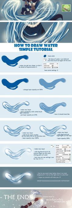 Water Tutorial by mintwinter.deviantart.com on @deviantART