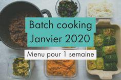 Batch cooking - Menu de Janvier pour 4 en 2h - Gourmandiseries Batch Cooking, Beef, Seasonal Recipe, January Month, Eat Healthy, Dish, Meat, Steak