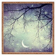 Deny Designs Shannon Clark Diamonds In The Sky Art Canvas Ciel Art, Ciel Nocturne, Night Sky Photos, Diamonds In The Sky, Purple Sky, Beautiful Moon, Sky Art, Moon Art, Night Skies