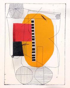 garadinervi: atelier bingo, Etching with paper color, 2016
