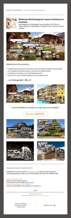 Frühlingsfitte Websites | lebendig und erlebbar! Web Design, Hotels, Marketing, Linz, Design Web, Site Design, Website Designs