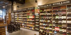 Eat Drink - 350 beers on 25 meters of shelf space: the new craft beer store - Craft Beer Cellar, Craft Beer Shop, Craft Beer Gifts, Craft Bier, Beer Store, Liquor Store, Alcohol Store, Brewery Design, Best Craft Beers