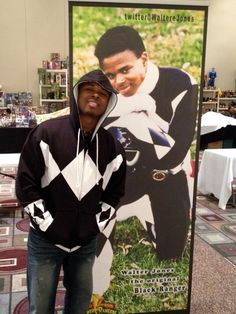 MMPR Black Ranger - Walter Jones. Friends with EVERYONE, clearly totally lovable.