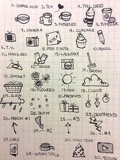 ≡ doodles for bullet journal