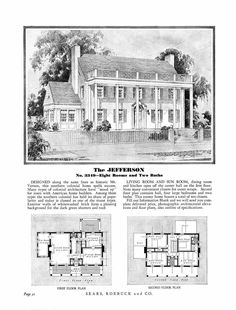 1900 Sears Homes and Plans | so back in the day 1900 to about 1940 sears sold houses entire houses ...
