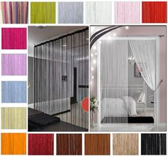 String Curtains Patio Net Fringe For Door Fly Screen Windows Divider Cut To Size In Home Furniture DIY Blinds Pelmets