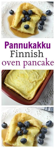 Pannukakku Finish Oven Pancake is a simple recipe with few ingredients! A light and airy pancake you bake in the oven and top with your favorite pancake toppings! This is a great recipe to make for the holidays or just a weekend brunch with the family! Breakfast Pancakes, Pancakes And Waffles, Best Breakfast, Brunch Recipes, Breakfast Recipes, Pancake Recipes, Finland Food, Pancake Toppings, Pancake Cake