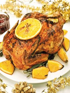 Pollo all'arancia con salsa di mirtilli