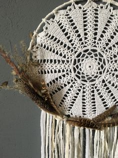 "bohemian wallhanging dreamcatcher ""countryside"" weddingdecor made by woovenstudio.de"