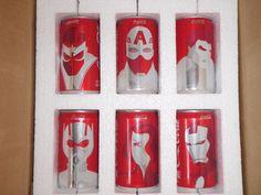 Mini Marvel Coke Cans RARE Promo 6 RARE Black Widow Ant Iron Man Hulk Falcon #CocaCola