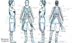 UPDATED: Rey costume turnaround. Back fixed by division6 on the RPF.com
