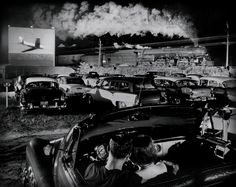 O. Winston Link - Hotshot Eastbound at the Drive-In (Iaeger, West Virginia, USA, 1956).