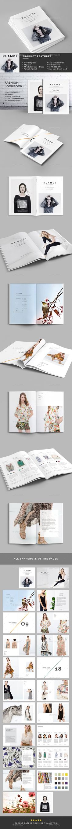 Fashion Lookbook Catalog Brochure Template InDesign INDD. Download here: http://graphicriver.net/item/fashion-lookbook/11401509?s_rank=30&ref=yinkira
