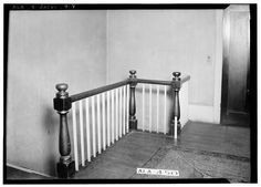 7.  Historic American Buildings Survey W. N. Manning, Photographer, January 23, 1935 STAIRWAY IN NORTH BED ROOM UPSTAIRS - Arnold-Rowan House, 201 Murphy Street, Jacksonville, Calhoun County, AL