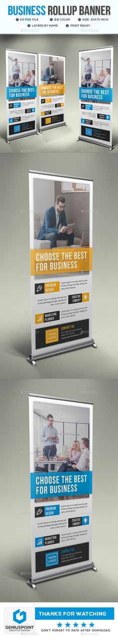 Business Roll Up Banner Template PSD