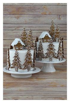 Gingerbread Forest House Christmas Cake from Blossom Tree Cake Co Harrogate North . - Gingerbread Forest House Christmas Cake from Blossom Tree Cake Co Harrogate North … - Christmas Cake Decorations, Christmas Sweets, Holiday Cakes, Christmas Cooking, Noel Christmas, Christmas Goodies, Christmas Cakes, Xmas Cakes, Tree Decorations