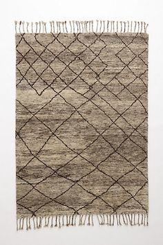 Hand-Knotted Flokati Rug  #anthropologie - element for layering in neutral gray bedroom