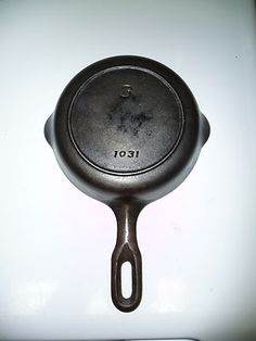 """Griswold 1940's No.3 6"""" Cast Iron Mountain Skillet Pan"""