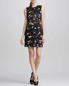 Sleeveless Printed A-line Dress $225 ~CUSP http://www.cusp.com/product.jsp?rte=%252Fcategory.jsp%253FitemId%253Dcat2280001%2526pageSize%253D120%2526No%253D0%2526refinements%253D&seoDesigner=Milly&icid=&seoCategory=Little+Black+Dress&parentId=cat2280001&eItemId=prod6240073&seoProduct=Sleeveless+Printed+A-line+Dress&searchType=EndecaDrivenCat&cmCat=product&itemId=prod6240073
