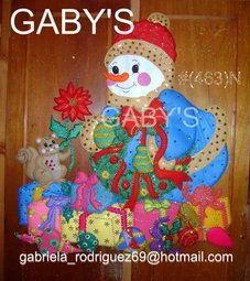 Muñeco de nieve con regalos