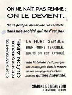 Simone de Beauvoir texte