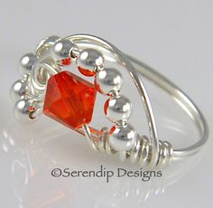 Wire Wrapped Ring Sterling Silver by SerendipDesignsJewel on Etsy, $24.00