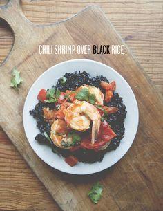 CHILI SHRIMP OVER BLACK RICE   The Kitchy Kitchen