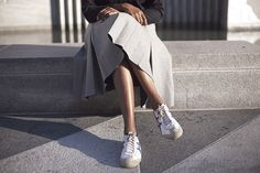 Wearing Jacquemus JW Anderson / Onitsuka Tiger by Asics sneakers Sneakers Outfit Casual, Casual Outfits, Onitsuka Tiger Women Outfit, Tennis Vans, Dress Outfits, Fashion Outfits, Dresses, Clothes For Women, How To Wear