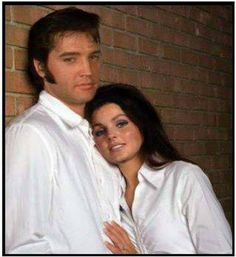 Elvis with his wife