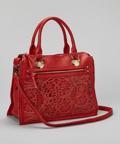 Take a look at this Red Floral Cutout Tote by Segolene Paris on #zulily today!