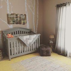 Annie Sloan Chalk Paint Crib in Paris Grey with Clear Wax finish