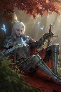 Art featuring medieval knights and their fantasy/sci-fi counterparts. Fantasy Warrior, Fantasy Male, Fantasy Rpg, Medieval Fantasy, Fantasy Artwork, Fantasy World, Dark Fantasy, Final Fantasy, Fantasy Character Design