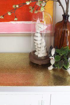 DIY glitter countertop